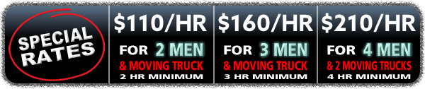moving company hourly rates